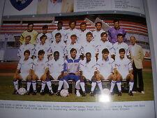 FOOTBALL COUPURE LIVRE PHOTO COULEUR 20x10 D2 GrB CHAMOIS NIORTAIS 1989/1990