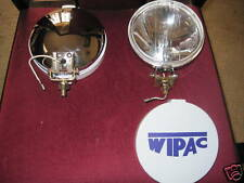 "MG   NEW  WIPAC 5 1/2"" CHROME DRIVING  LAMP SET   ***"
