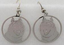 Siberian Husky Jewelry Silver Siberian Husky Earrings