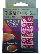 NAILENE DURA COLOUR NAIL ART DARK PINK WITH WHITE FLOWER STICKER 77700 NAILS