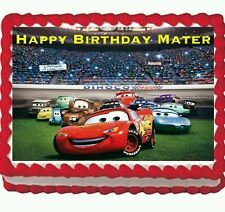 Cars the movie Mater Birthday party Edible Frosting Icing Cake Topper 1/4