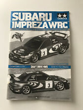 Original Tamiya RC Instruction Manual - Subaru Impreza WRC 58226 1998 !RARE!