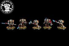 VINTAGE METAL Warhammer 40K Grey Knight Terminators, 5 PRO PAINT miniatures