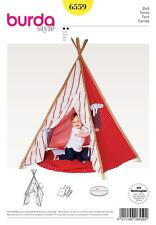 BURDA SEWING PATTERN TIPI CURTAINED ENTRANCE WINDOW PADDED FLOOR 6559