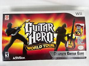 Nintendo Wii Guitar Hero World Tour Sunburst Guitar Bundle w Box sealed stickers