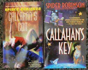 SPIDER ROBINSON CALLAHAN'S KEY / CALLAHAN'S CON 2 BOOK LOT SCI FI