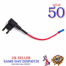 50x Add A Circuit Piggy Back Fuse Tap Mini Blade Holder ATP ATM 12V Car Boat