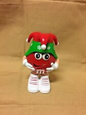 m & m's Christmas Candy Red  Jester Dispenser Holiday Collectible m & m
