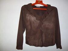 CHEMISIER JULIE GUERLANDE T.3 brun  polyester 100%