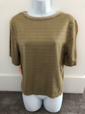 Donna Jessica Green Striped Short Sleeve Top/Shirt Size 3. NWT