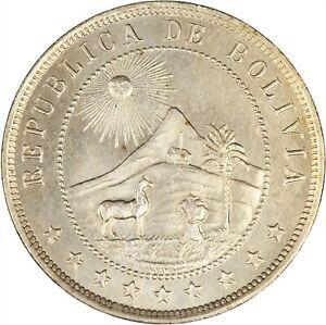 Bolivia 1918 10 Centavos CHOICE BU