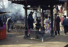 KODACHROME 35mm Slide Asia Shrine Pretty Women Men Old Camera Fashion 1961!!!
