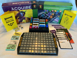 1999 Hasbro ACQUIRE Game Not Played Condition W/Wild Tile Kit & Lloyd's Rules