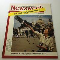 VTG Newsweek Magazine August 1 1955 - American In Europe / Newsstand