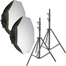 Impact Octacool-6 Fluorescent 2 Light Kit with Octabox (6 Lamps)