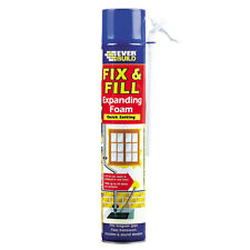 FIX & FILL EXPANDING FOAM & FILLER 750ml EVERBUILD QUICK SETTING GAPS FILLS X 12
