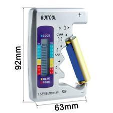 Universal Digital LCD Battery Tester Checker C D N 9V Button Cell AA AAA U7B9