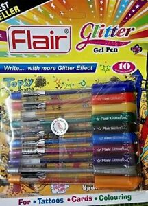 Cards Pens Flair Glitter Gel Pen 20 Sparkling Color  For Tattoos /& Coloring/'s.