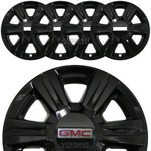 "4 Black 2014 2015 2016 GMC TERRAIN 17"" Wheel Skins Full Rim Covers Hub Caps New"
