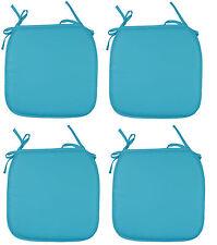 4 x Seat Pads Teal Garden Chair Cushion Kitchen Dining Patio Chair Cushion Pads