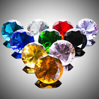 10 Colors Crystal Diamond Paperweight Glass Ornament Wedding Party Decor 40mm