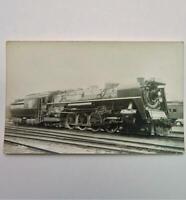 Vintage H. Bonnet Real Photo Postcard Canadian National 6109 Steam Locomotive