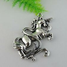 6pcs Vintage Style Silver Alloy Horse Pendant Charms Jewelry Findings 38333