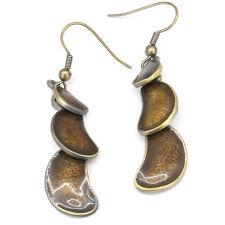 Tribal Ethnic Earrings Aztec Drop Dangle Earrings Pairs Costume Jewelry Brown