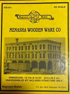 Magnuson Models 439-551 HO MENASHA WOODEN WEAR CO.