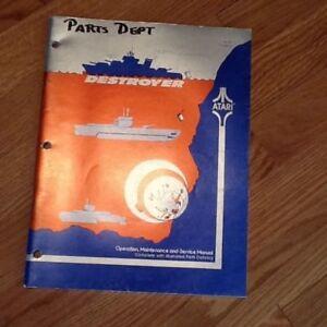 Destroyer video arcade game manual, Atari 1977