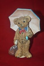 Gilde Handwerk Teddy Baren Figurine Bear with Umbrella