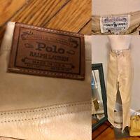 Vtg 80 Hi Rise Ralph Lauren Lux Tan Lined Lamb Skin Soft Leather Pants 10 30x32