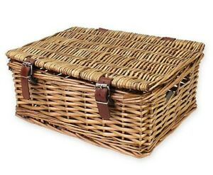 6 x Luxury Wicker Hamper Basket Make Your Own DIY Christmas Gift Gadsby w/Straps