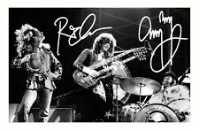 ROBERT PLANT & JIMMY PAGE AUTOGRAPHED SIGNED A4 PP POSTER PHOTO 1