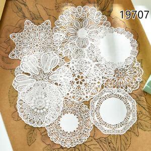 10 Pcs White Lace Paper Doilies Placemat Wedding Party Decor Scrapbooking Crafts