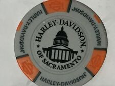 Harley Poker Chip   HD of SACRAMENTO  SACRAMENTO, CA    GRAY
