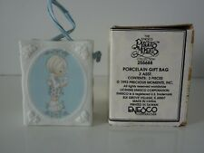 "1993 Precious Moments Happy Spring w/ Box 255688 Porcelain 3"" Shopping/ Gift Bag"