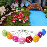 60X/lot Mini Cute Miniature Plant Pots Fairy Foam Mushroom Garden Decoration