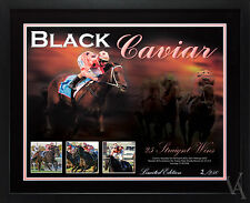 BLACK CAVIAR LIMITED EDITION 25 STRAIGHT WINS FRAMED POSTER PHOTO MEMORABILIA