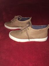 NEW Women's Keds Triumph Mid Leather Lace-Up Trainers In Brown-Size Uk 4 / Eu 37