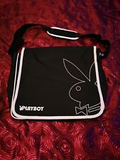Authentic Playboy Collection Messenger Bag - Black & White.