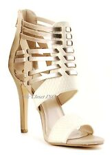 Women Color Block Gladiator Caged Strappy High Heels Ankle Strap Sandals Shoes