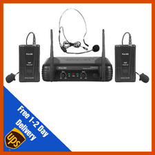 Pulse VHF Dual Lavalier / Headset Wireless Microphone Mic System | DJ | PA