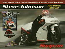 2009 Steve Johnson Snap On Tools Suzuki Pro Stock Motorcycle NHRA postcard