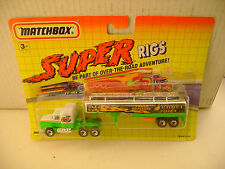 1992 MATCHBOX SUPER RIGS ORANGE JUICE MACK CH600 TRUCK & TANKER TRAILER NEW ON C