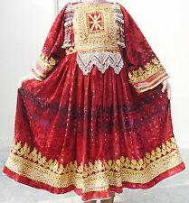 Afghan Banjara Tribal Boho Hippy Vintage Handmade Multicolored Kuchi Dress UD-34