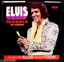 ELVIS PRESLEY-Trouble+Mr. Songman-Picture Sleeve-RCA VICTOR #PB-10278