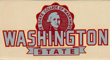 Washington State College _RARE_ ORIG 1950's Decal vtg Cougars Campus seal banner
