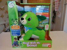 NEW LeapFrog Read With Me Scout 5 Book Set Dog Educational Toy Green Puppy + DVD