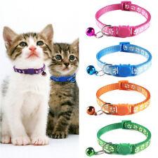Ajustable Gatito Gato reflectante collar de nylon de seguridad para mascotas disidente con campana